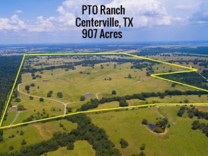 906 Acre Cattle Ranch, Pipe Working Pens, Net Wire Fencing, Several Stock Ponds, Trinity River Frontage